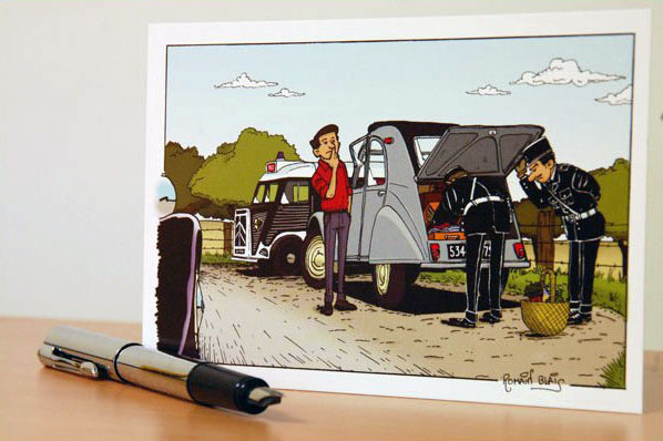 Une magnifique carte postale 2CV à envoyer à vos proches